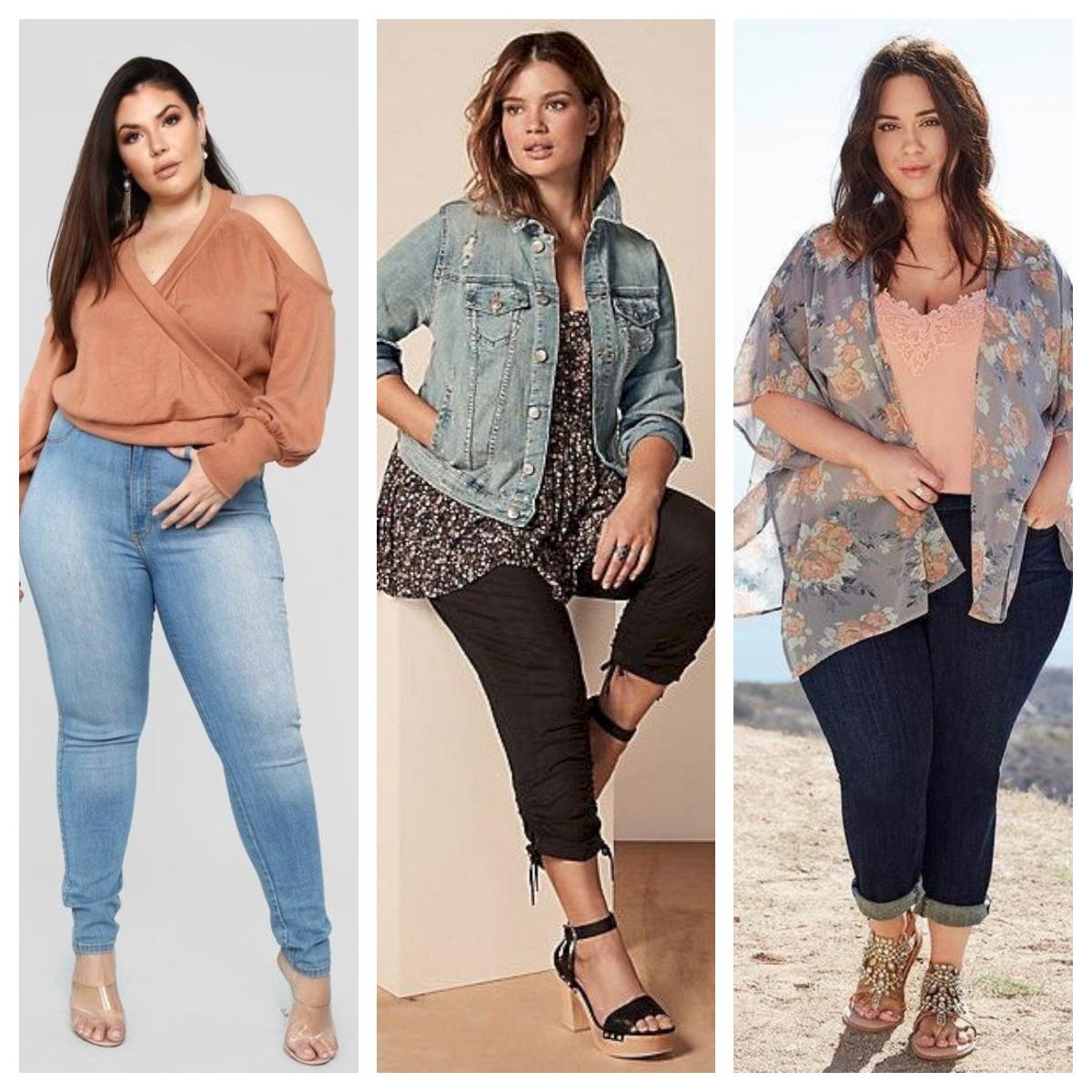 6f325f1c5 Outfits primaverales con jeans para gorditas