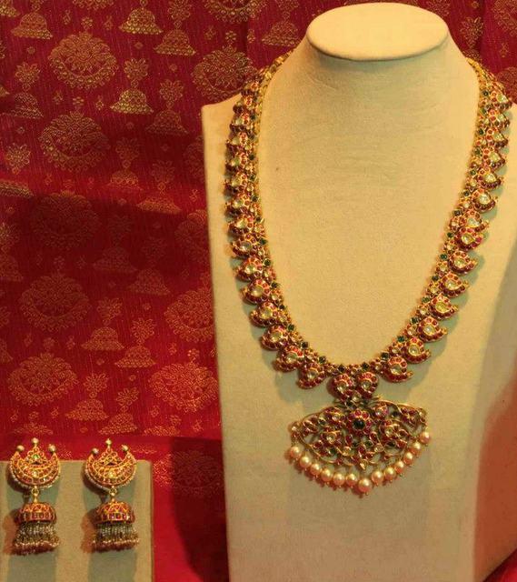 Sakhi S Traditional Mango Haram Jewellery Designs