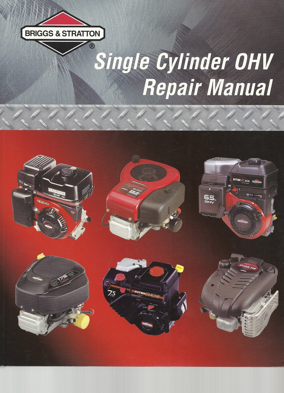 briggs u0026 stratton 270962 repair manual for single cylinder 4 cycle  engines Array - 4 stroke rebuild post the fourth small engine repair manuals  rh ...