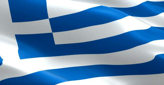 The flag of Greece consists of which two colours?