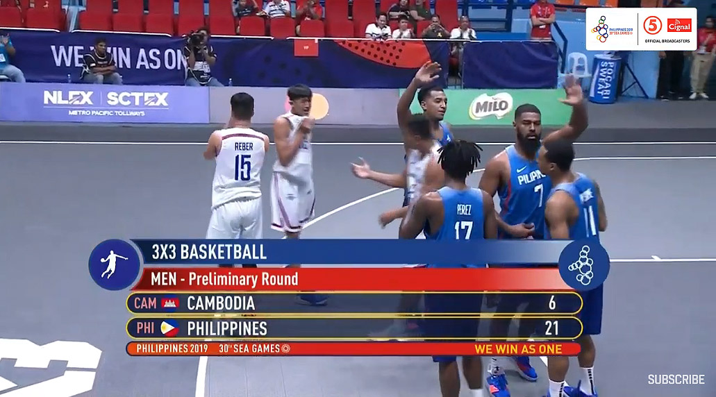 Gilas Pilipinas def. Cambodia, 21-6 (VIDEO) Men's 3x3 | SEA Games 2019