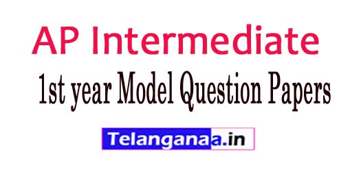 AP Junior Inter 1st Year Exam Model Questions Papers 2018
