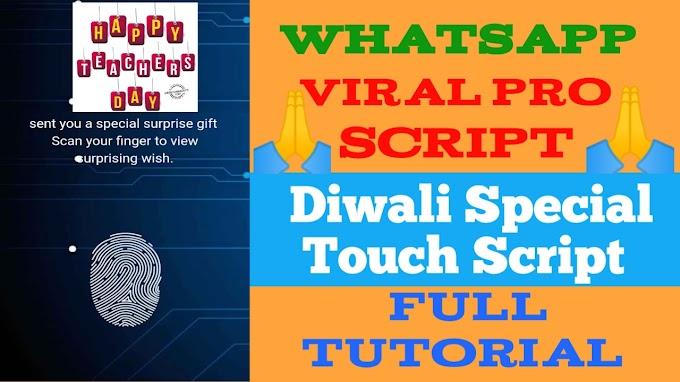 Diwali Whatsapp viral script 2019||Happy Diwali Wishing Script for  Festival Website Kaise Banaye