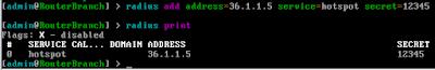 Pengaturan Raidus Server
