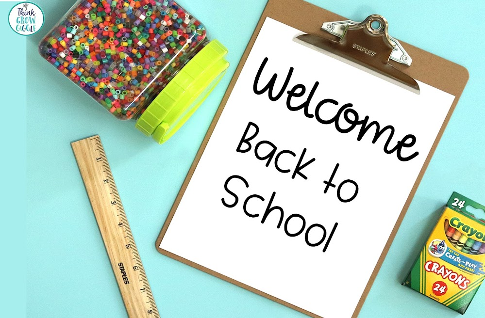 Welcome Back to School Activities and Ideas