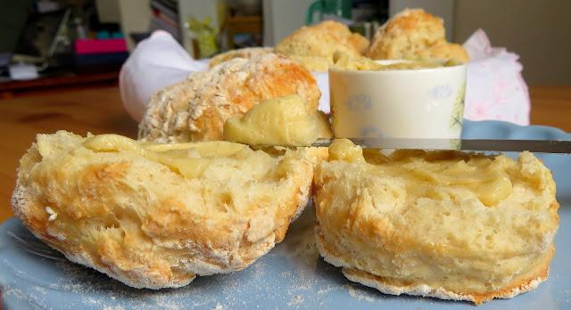 Yogurt Biscuits & Honey Cardamom Butter