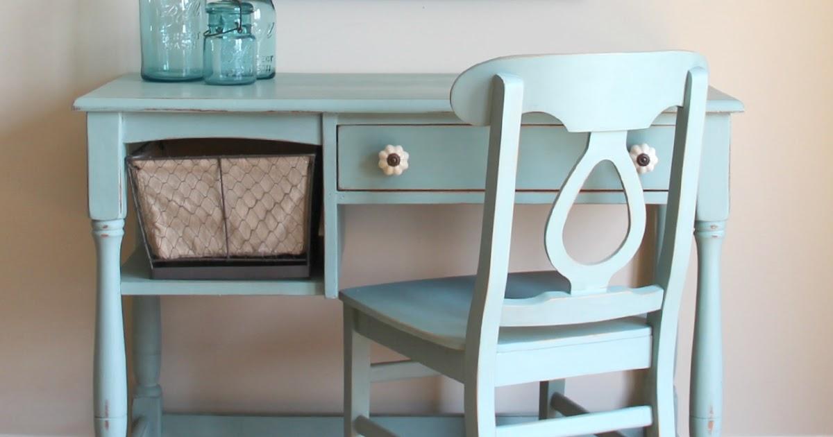 Funky Junk: Duck Egg Desk & Chair Set