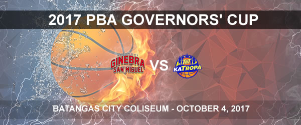 List of PBA Game(s) Wednesday October 4, 2017 @ Batangas City Coliseum