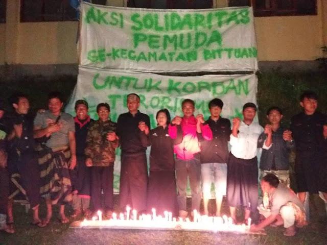 Pemuda Bittuang Suarakan Solidaritas Melawan Aksi Teroris di Surabaya