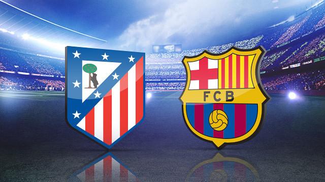 برشلونة واتلتيكو مدريد ضمن الدوري الاسباني لكرة القدم