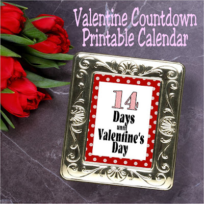 Countdown to Valentine's day with these 14 printable sheets.  You can print and change the graphic each day and become super excited for the Valentine holiday.