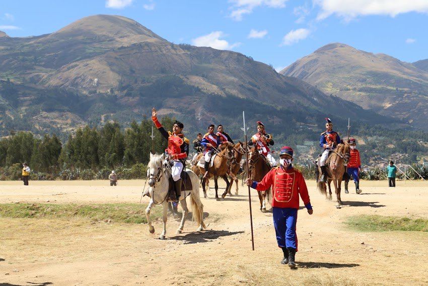 Libertador Simón Bolívar y su entrada triunfal a Cajabamba