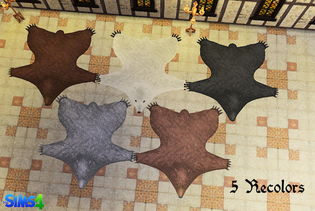Ts4 Tsm Bear Rug Conversion Recolors History Lover S