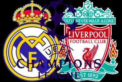 escudos de Real Madrid y Liverpool Champions League