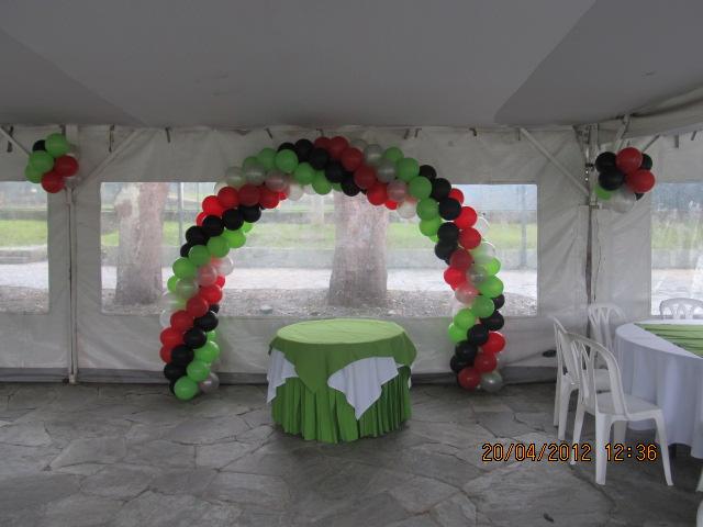 Decoracion con globos para fiestas decoraci n fiestas for Decoracion para pared con globos