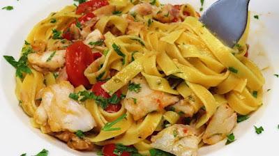 Ideja za Ručak - Tjestenina s Okusom Mora i Mirisom Dima   Lunch Idea-Smoked Sea Bass Fish & Pasta