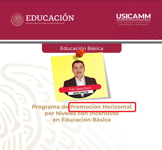 Programa de Promoción Horizontal por Niveles con Incentivos en Educación Básica