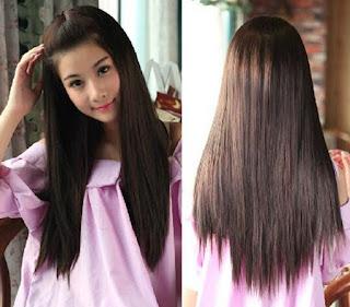 rambut panjang bikin penampilan simpel dan feminim