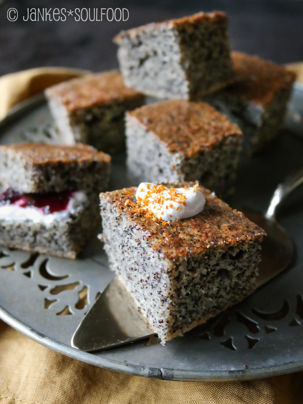 Mohn-Grieß-Kuchen - Jankes*Soulfood
