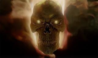agents of shield: poster de la cuarta temporada con el motorista fantasma