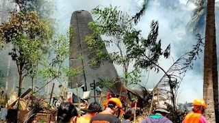Death toll rises to 29 and 50 injured in C-130 Hercules transport military plane crash in Philippines