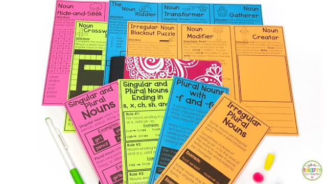 These singular and plural nouns interactive notebook foldable are a great and engaging way to help students review the plural rules.