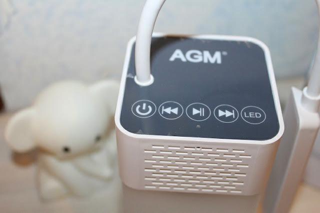 avis AGM Lampe de Chevet - Lampe de Table 2 en 1 Avec Enceinte Bluetooth