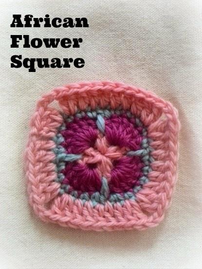 アフリカンフラワースクエアの編み方と編み図
