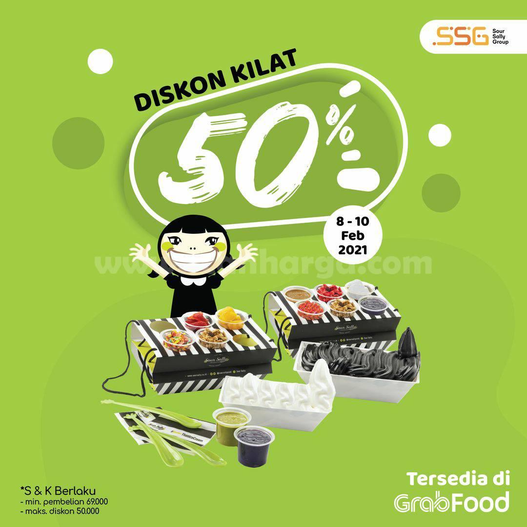 SOUR SALLY Promo Diskon Kilat 50% Via GRABFOOD