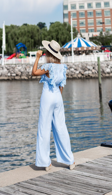 baby blue jumpsuit