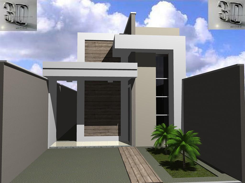 Casa em terreno estreita casas de andares com garagem - Fachada de casa ...