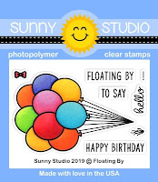 Sunny Studio Stamps: Floating By Balloon Bouquet Bundle 2x3 Clear Photopolymer Stamp Set