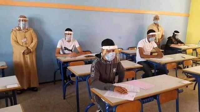 الباكالوريا في زمن كورونا...محاكاة لأجواء الامتحانات (صور)