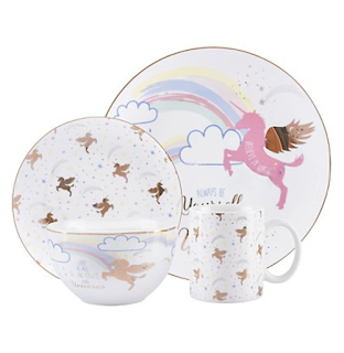 George at Asda Unicorn Dinnerware