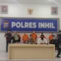 Polres Inhil Gelar Press Release Ungkap Modus Penahanan Kapal Tongkang Milik PT.THIP
