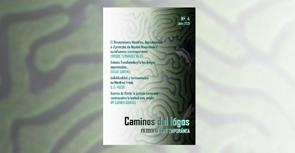 Revista Caminos del lógos (nº4). Publicación semestral sobre filosofía y humanidades.