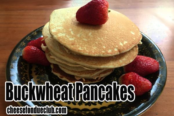 そば粉のパンケーキのレシピ Buckwheat pancakes