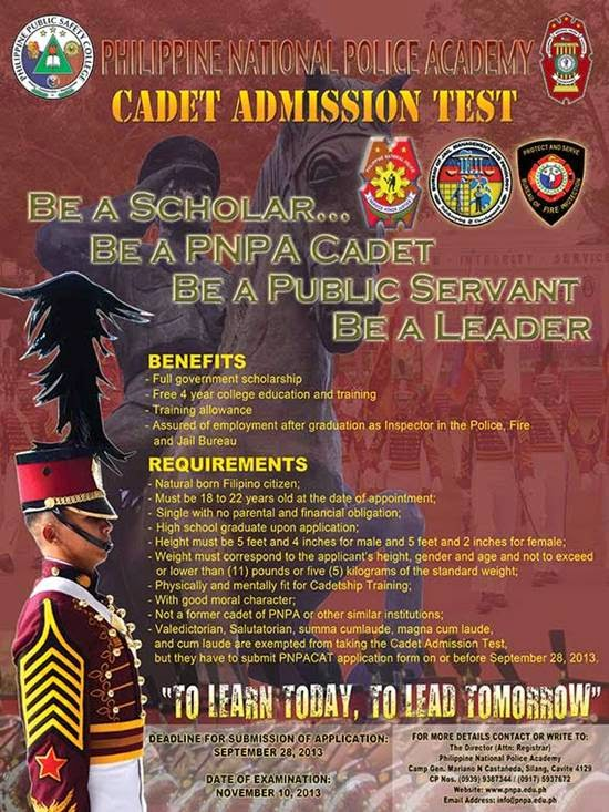 Take the PNPA Cadet Admission Test on November 10 | South ...