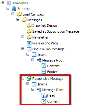 Sitecore Responsive Email Branch