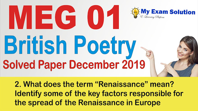 renaissance, meg 01, meg ignou previous year papers