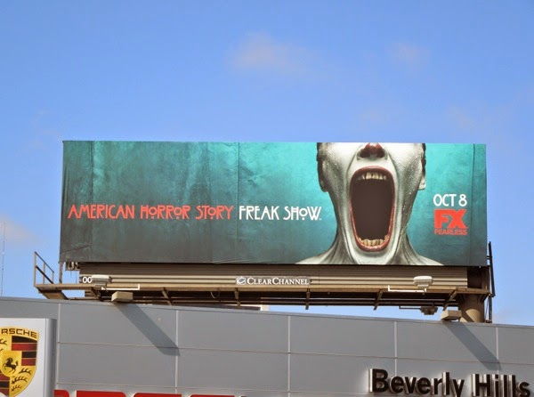 American Horror Story Freak Show clown mouth billboard