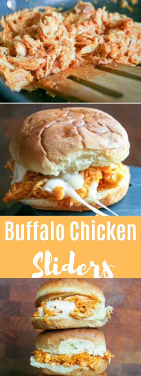 Buffalo Chicken Sliders #dinner #buffalo #chicken #easy #snack