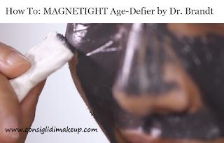 rimozione maschera magnetica con fazzolettini