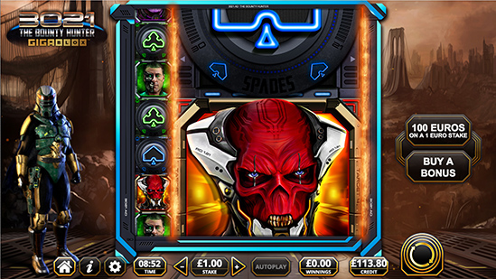 Wild Reel Bonus mode - 3021 Bounty Hunter game by Reflex Gaming