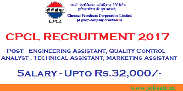 mechanical engineering jobs, cpcl careers, cpcl recruitment for freshers
