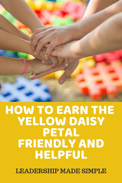 How to Earn the Yellow Daisy Girl Scout Petal Friendly and Helpful WIth a Daisy Poem