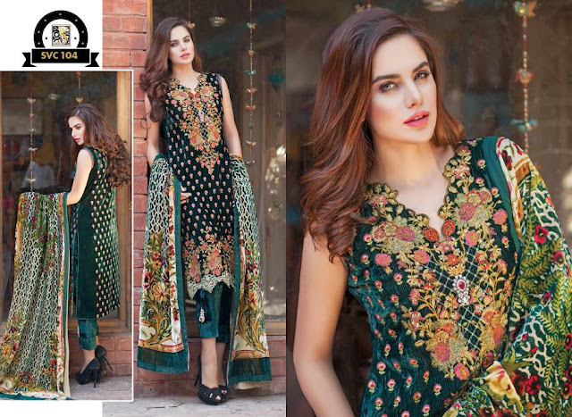 Shaista-latest-silk-velvet-dresses-winter-collection-2016-2017-for-women-2