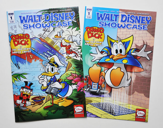 IDW's Walt Disney Showcase #1, A and B cover variants