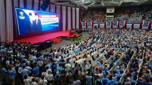 Prabowo Disambut Teriakan Presiden di JCC
