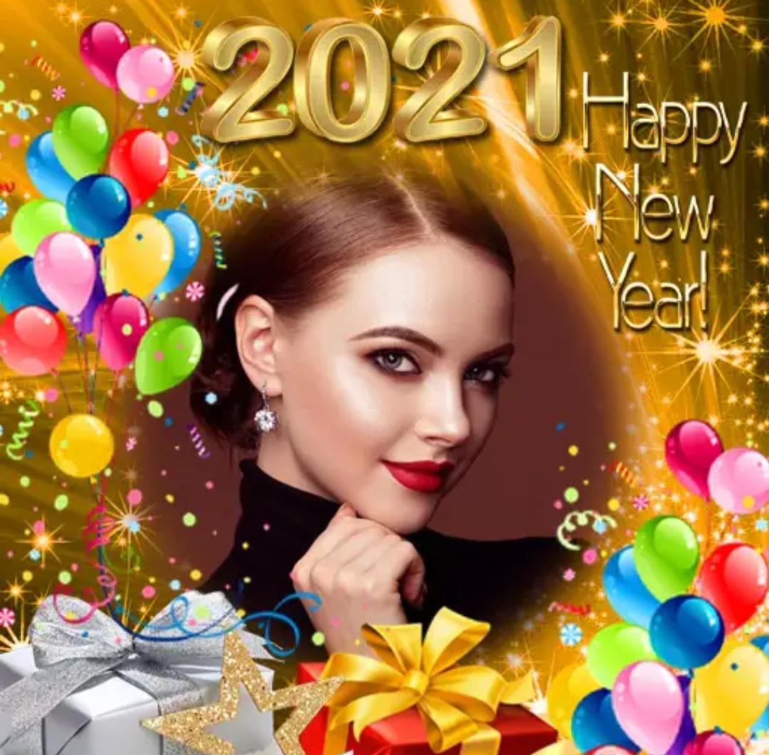 Happy New Year 2021 Photo Frame